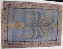 """SMALL BLUE TONED RUG, 23"""" x 33 1/2"""""""