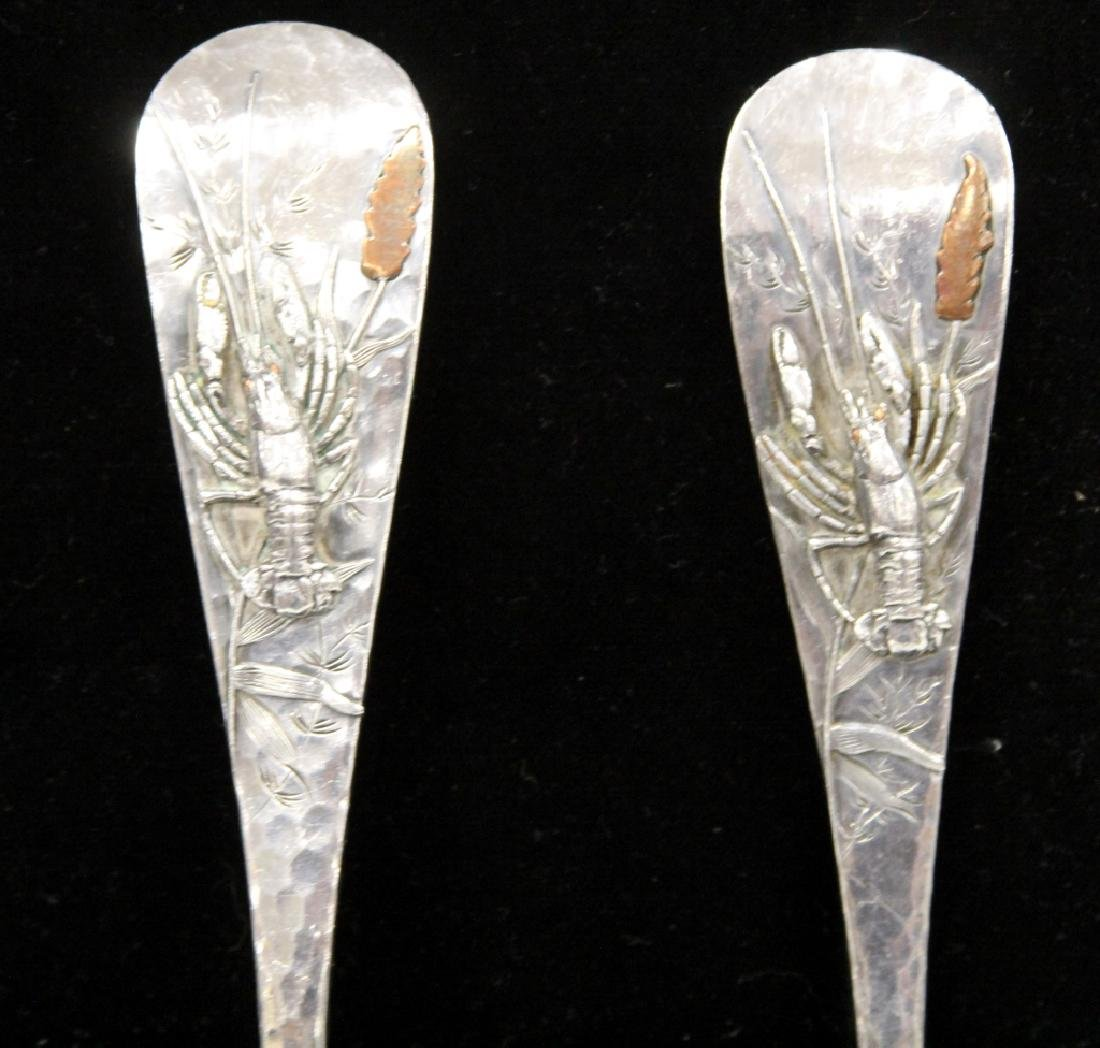 PAIR OF JAPANESE STERLING SERVING PCS. - 3