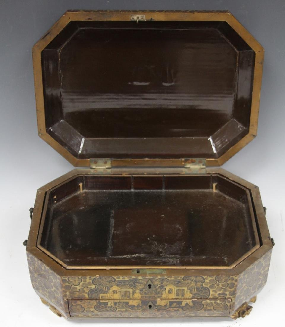 18TH C. CHINESE EXPORT PAINTED DOCUMENT BOX - 3