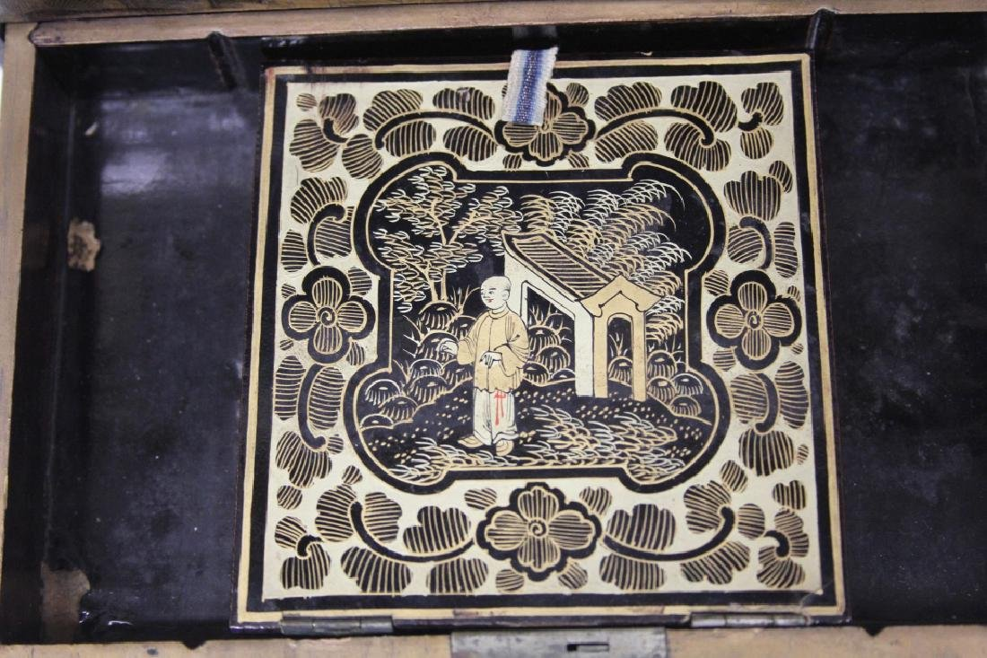 18TH C. CHINESE EXPORT PAINTED DOCUMENT BOX - 5