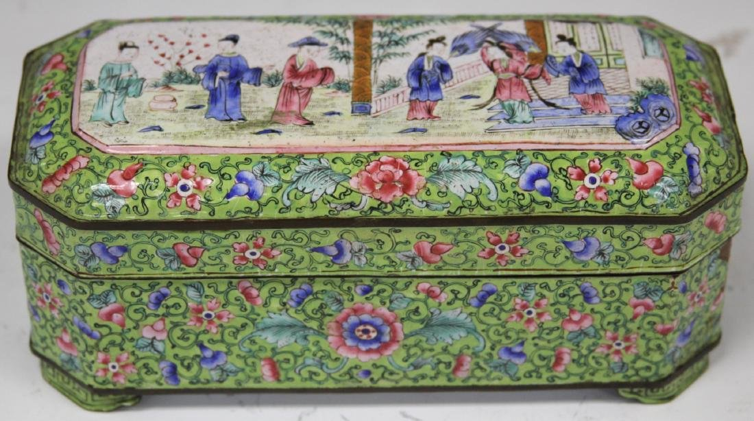 EARLY CHINESE ENAMELED SCHOLAR'S BOXES