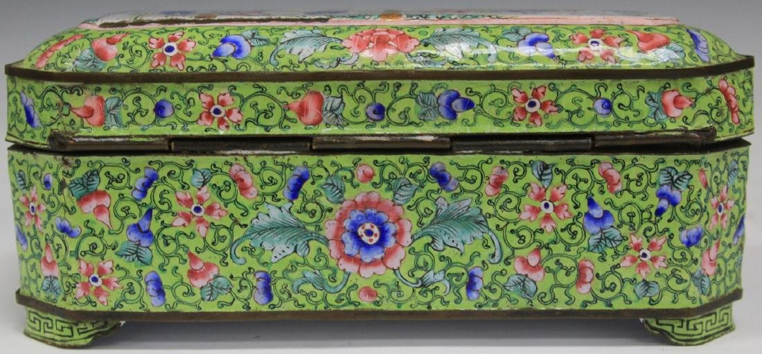 EARLY CHINESE ENAMELED SCHOLAR'S BOXES - 5