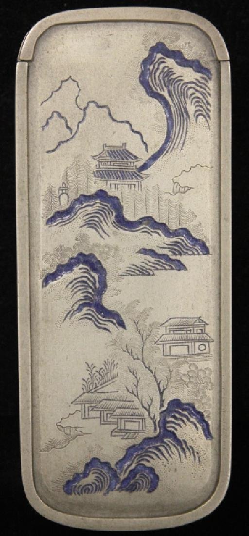 19TH C. CHINESE SILVER ENAMELED SCHOLAR'S BOX - 2