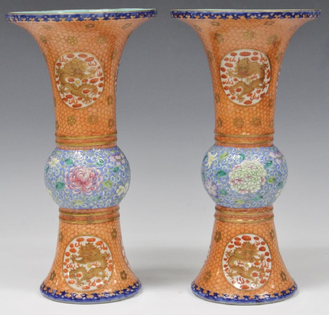 PAIR OF CHINESE REPUBLIC PERIOD PAINTED VASES