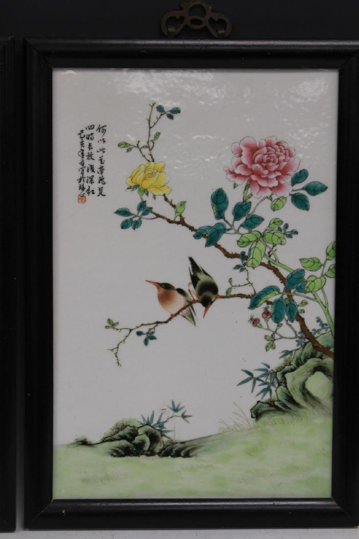 PAIR OF CHINESE REPUBLIC PERIOD PORCELAIN PLAQUES - 3