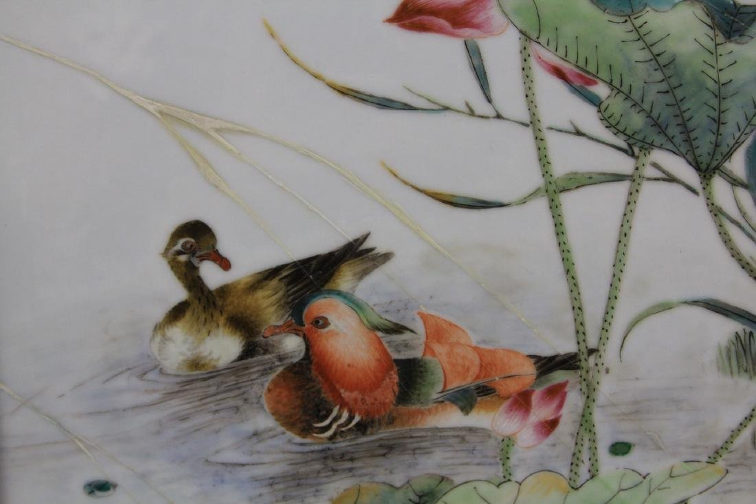PAIR OF CHINESE REPUBLIC PERIOD PORCELAIN PLAQUES - 5