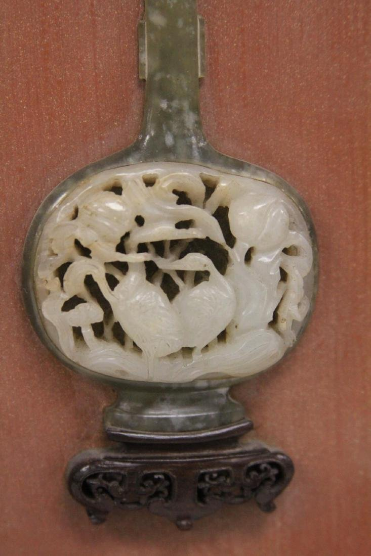 PAIR OF CHINESE JADE WALL PLAQUES, 18TH/19TH C. - 3