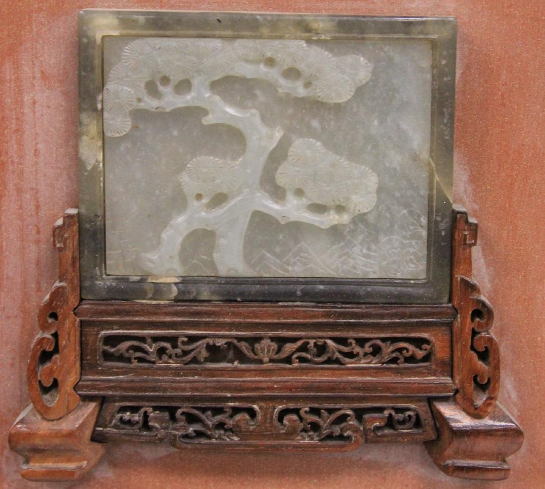 PAIR OF CHINESE JADE WALL PLAQUES, 18TH/19TH C. - 4