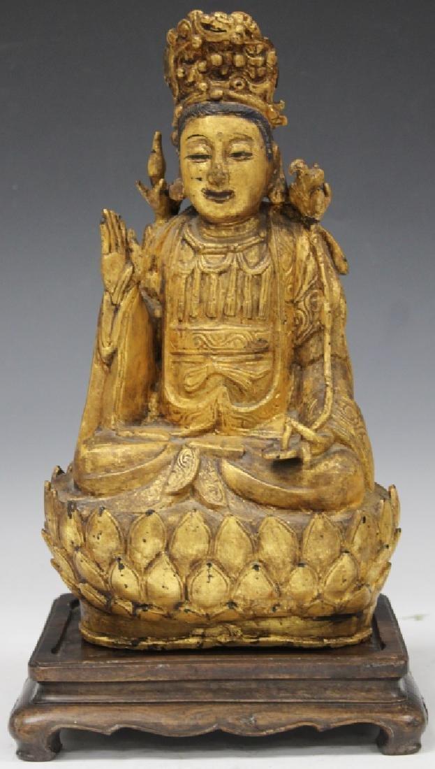QING DYNASTY CHINESE BRONZE BUDDHA