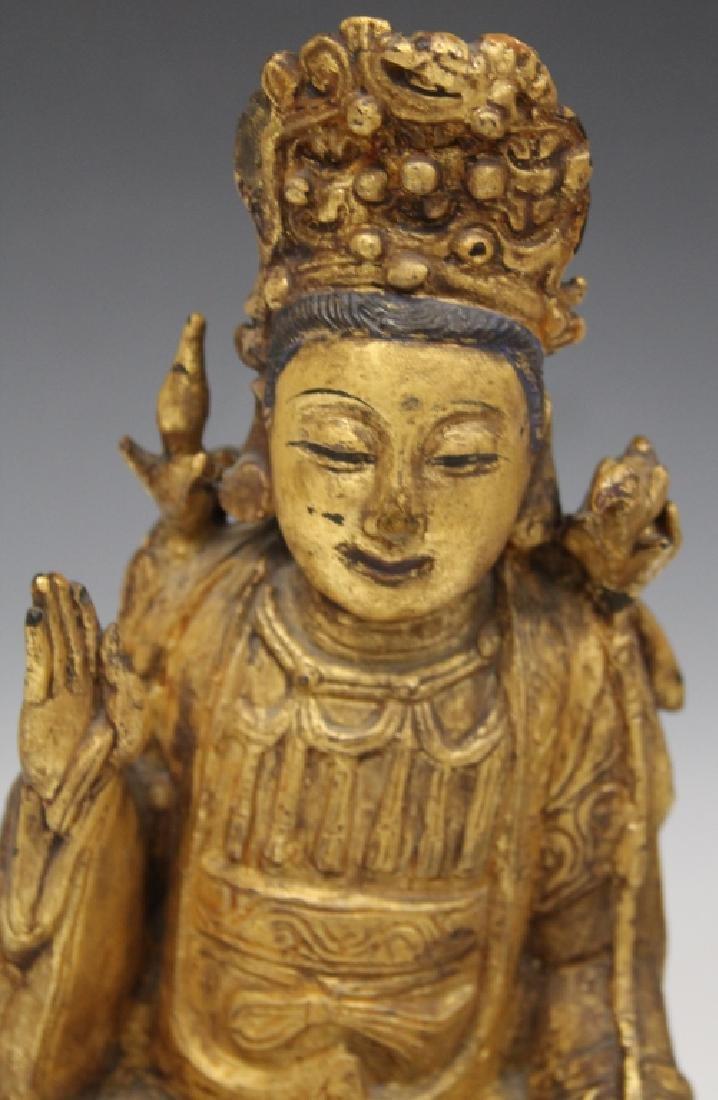QING DYNASTY CHINESE BRONZE BUDDHA - 2