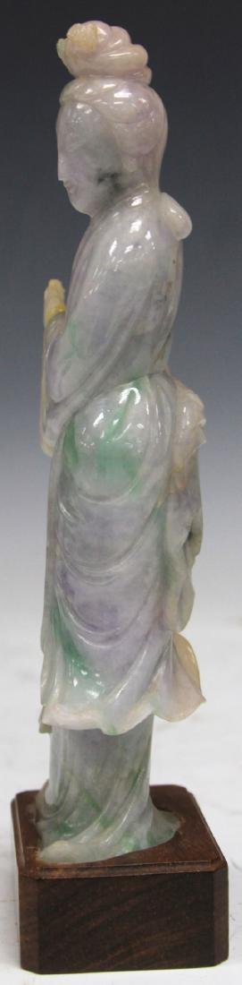 CHINESE CARVED JADE FIGURE OF QUAN YIN - 4