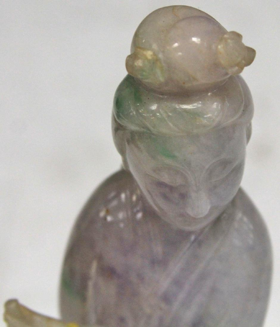 CHINESE CARVED JADE FIGURE OF QUAN YIN - 5