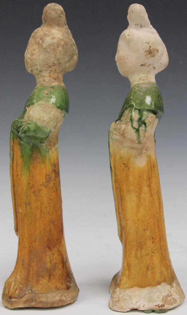 PAIR OF TANG DYNASTY FIGURES W/ STANDS - 6
