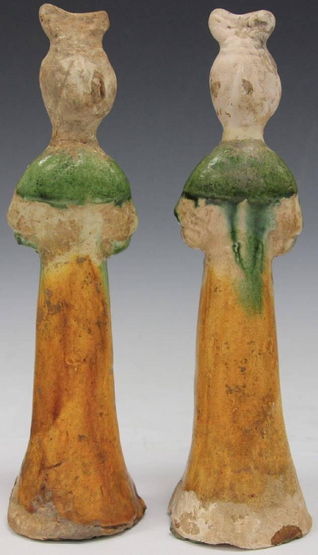 PAIR OF TANG DYNASTY FIGURES W/ STANDS - 7