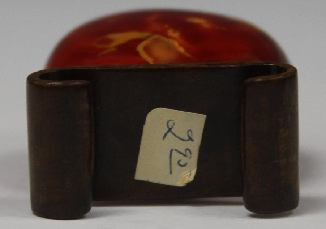 CHINESE CARVED SNUFF BOTTLE - 3