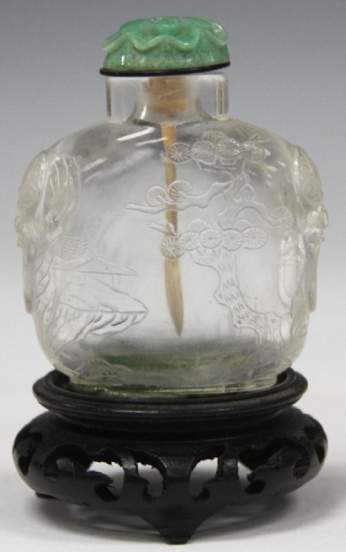 EARLY CHINESE PEKING GLASS SNUFF BOTTLE