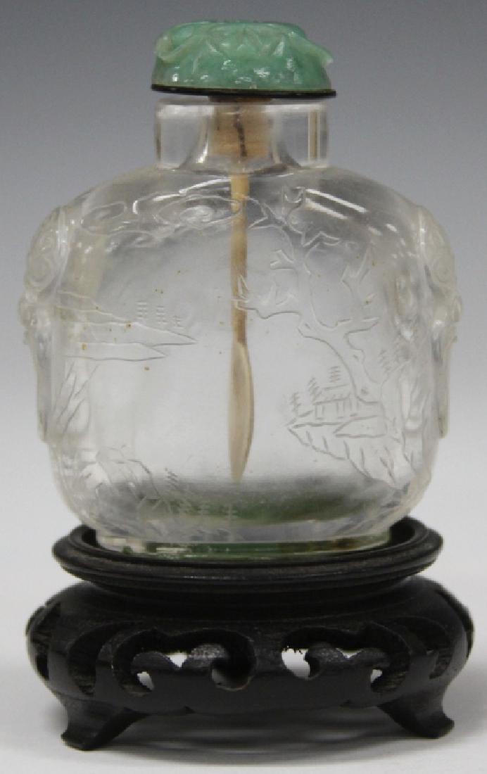 EARLY CHINESE PEKING GLASS SNUFF BOTTLE - 2