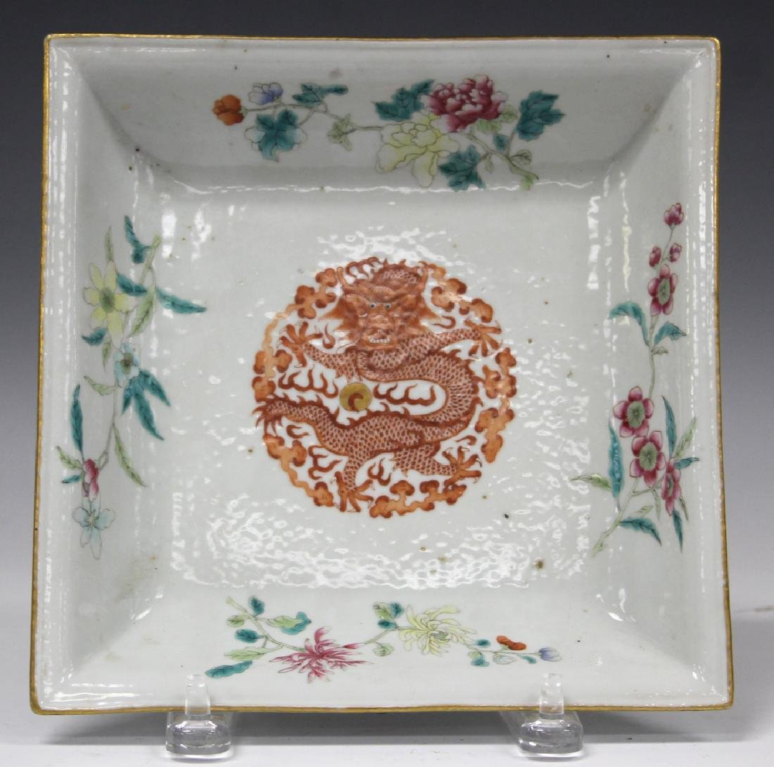 QING DYNASTY PORCELAIN SQUARE BOWL
