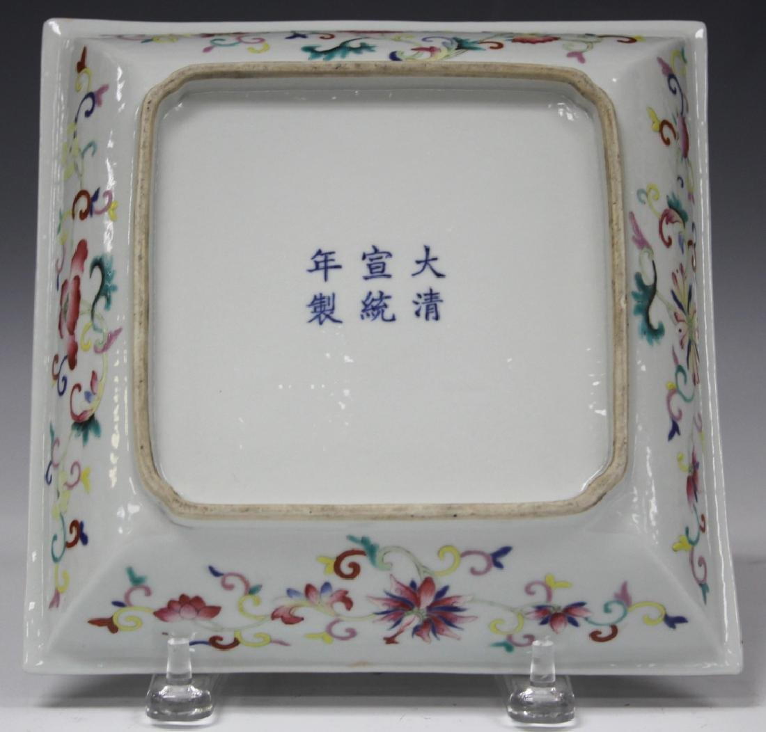 REPUBLIC PERIOD PORCELAIN SQUARE BOWL - 2