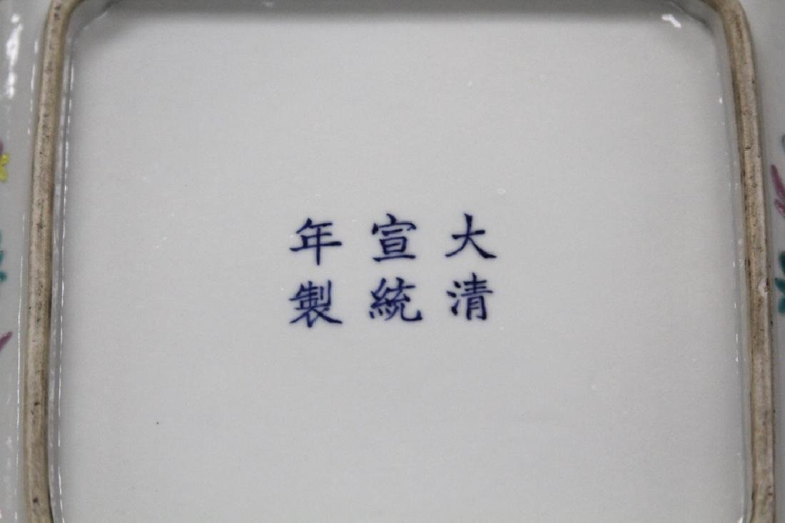 REPUBLIC PERIOD PORCELAIN SQUARE BOWL - 3