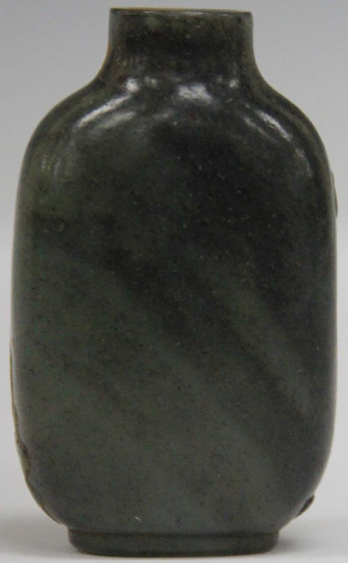 CHINESE CARVED JADE SNUFF BOTTLE - 2
