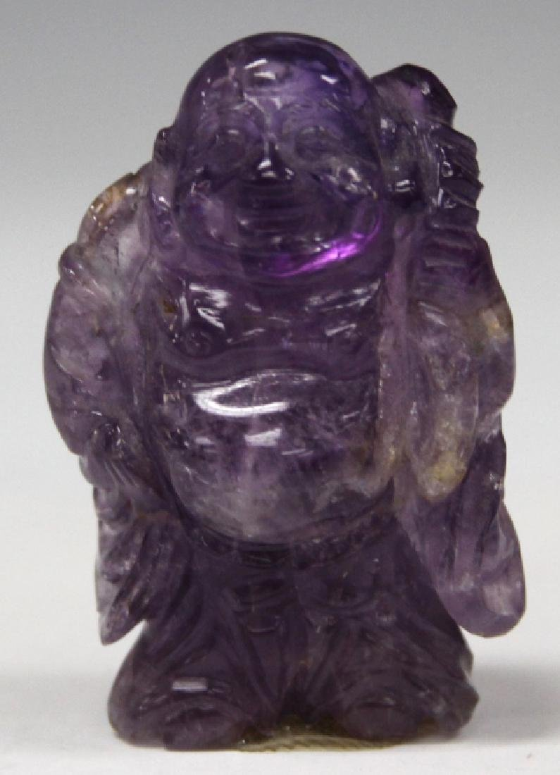 VINTAGE CHINESE AMETHYST CARVED BUDDAH