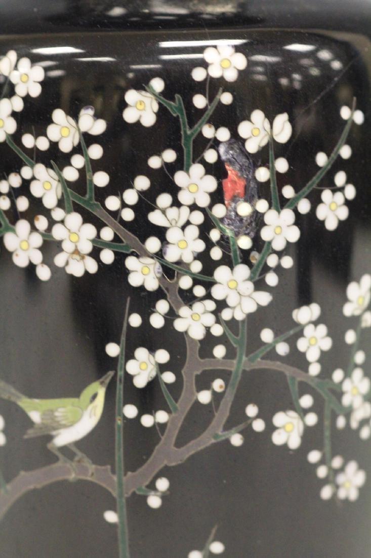 "FINE 19TH C. JAPANESE CLOISONNE VASE, 6 3/4"" H - 2"
