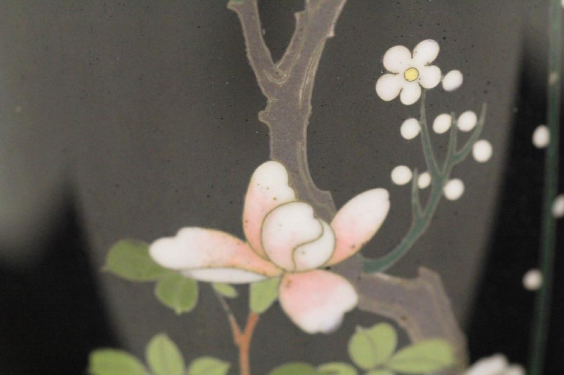 "FINE 19TH C. JAPANESE CLOISONNE VASE, 6 3/4"" H - 4"