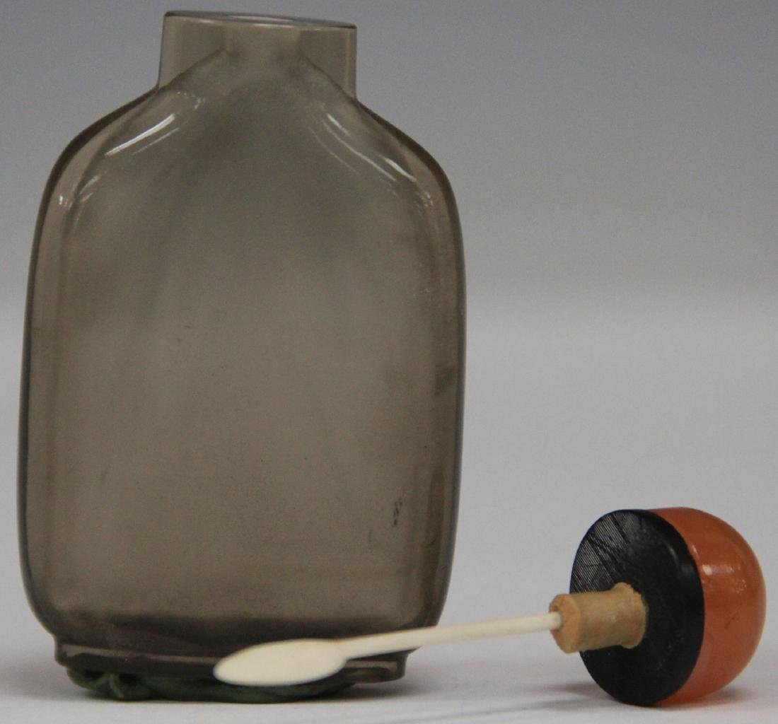 CHINESE ROCK CRYSTAL SNUFF BOTTLE - 3