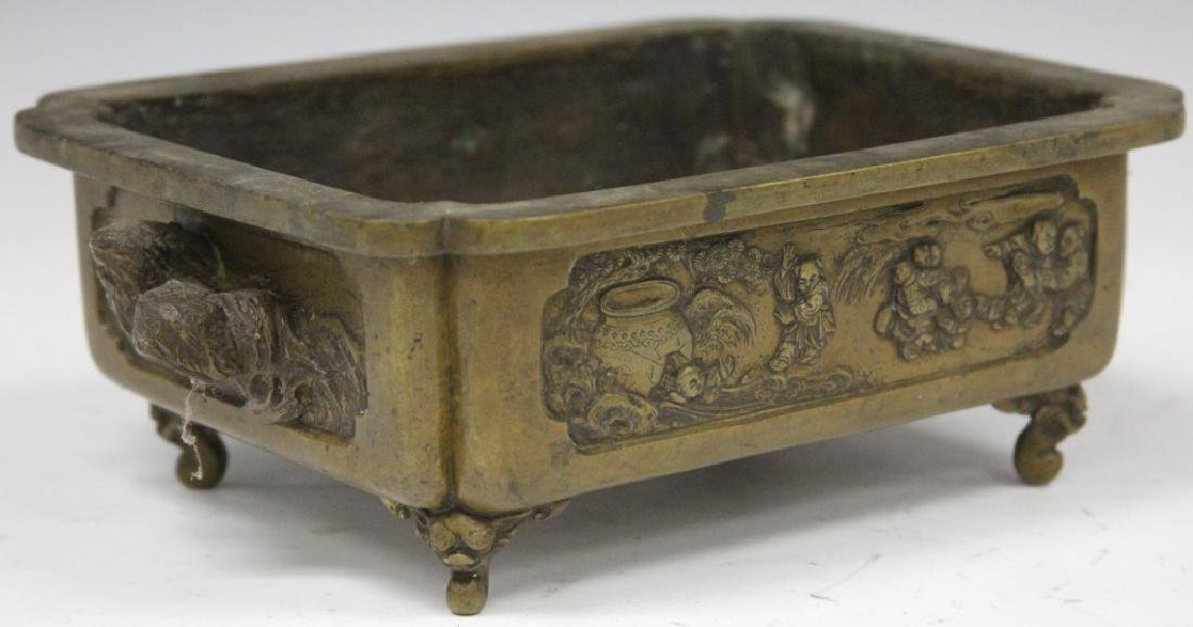 "19TH C. JAPANESE BRONZE CENSER, 7"" X 8 1/2"""