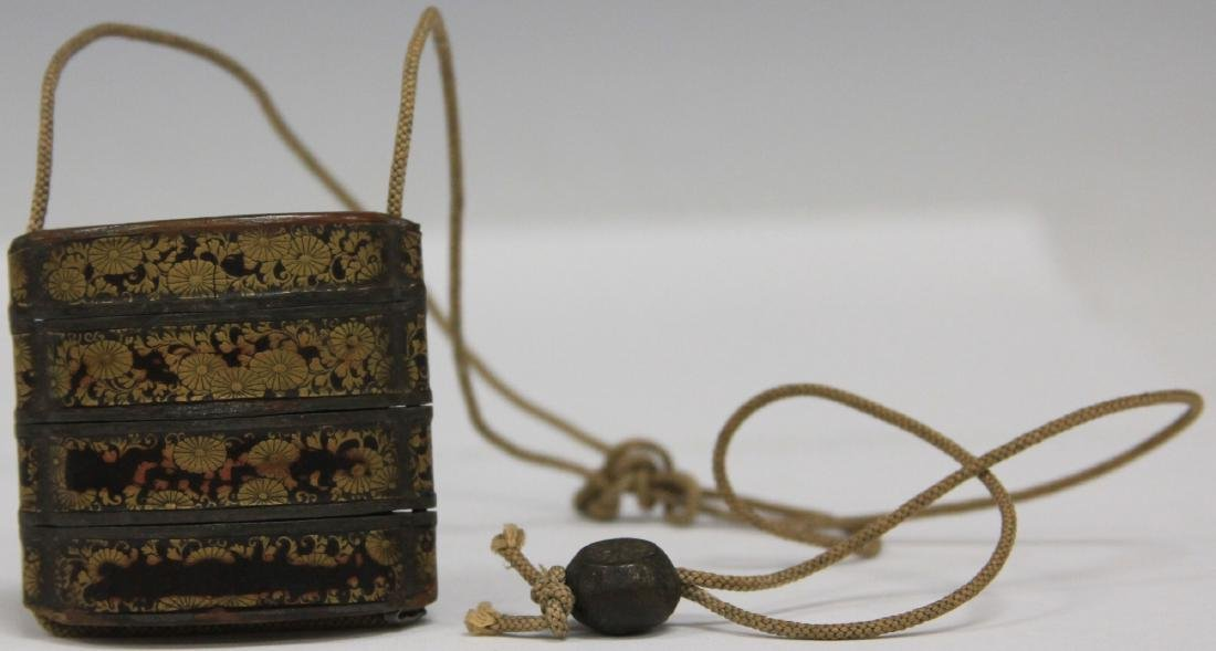 19TH C. JAPANESE INRO LACQUERED BOX