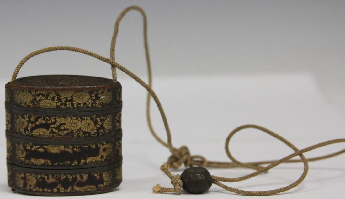 19TH C. JAPANESE INRO LACQUERED BOX - 2