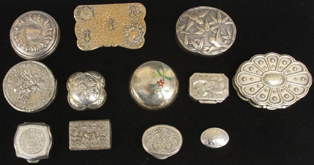 LOT OF (12)  VINTAGE PILL BOXES, 1900'S