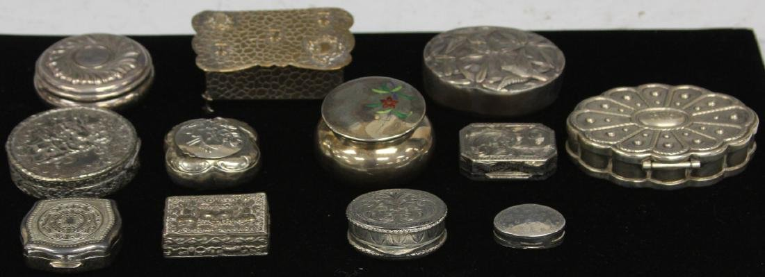 LOT OF (12)  VINTAGE PILL BOXES, 1900'S - 2