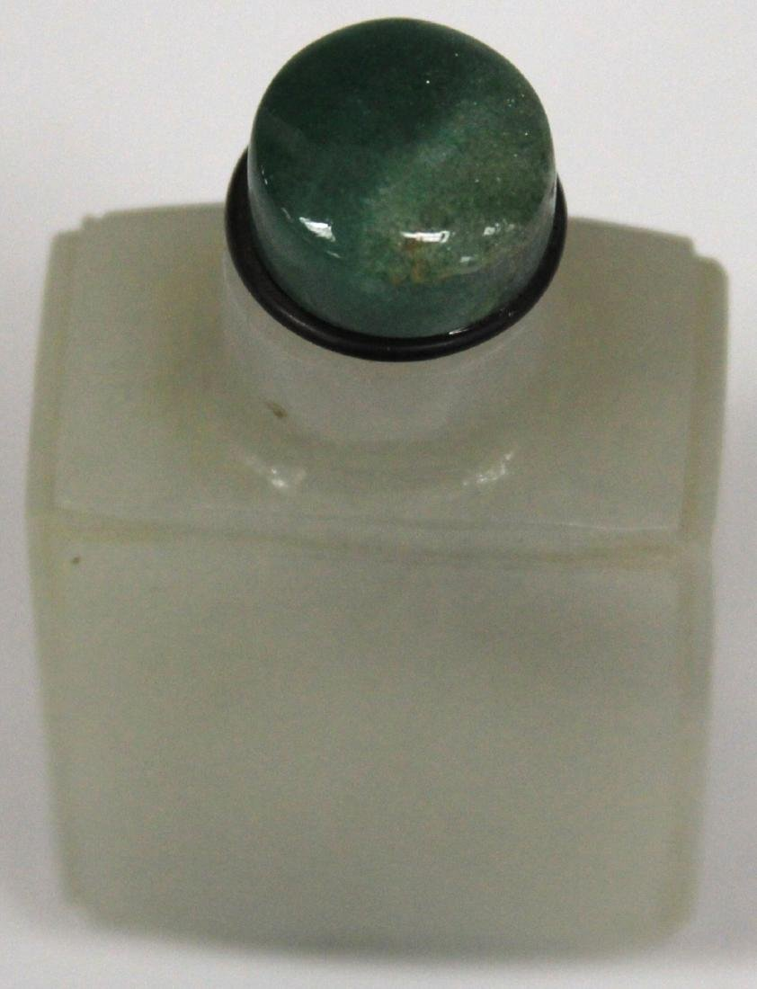 """EARLY CHINESE CARVED JADE SNUFF BOTTLE, 3 1/8"""" H - 4"""