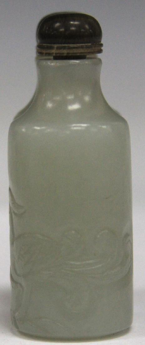 CHINESE CARVED JADE DOUBLE SNUFF BOTTLE - 2