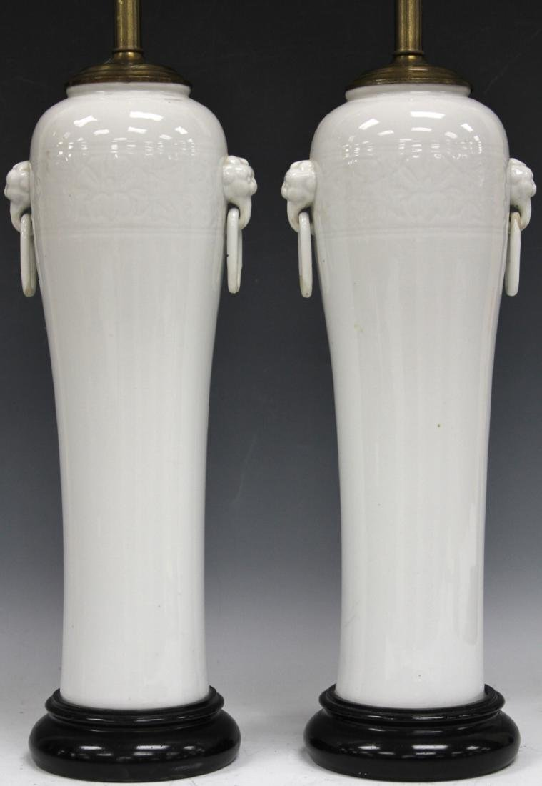 "PAIR OF JAPANESE PORCELAIN VASES, 16"" H"