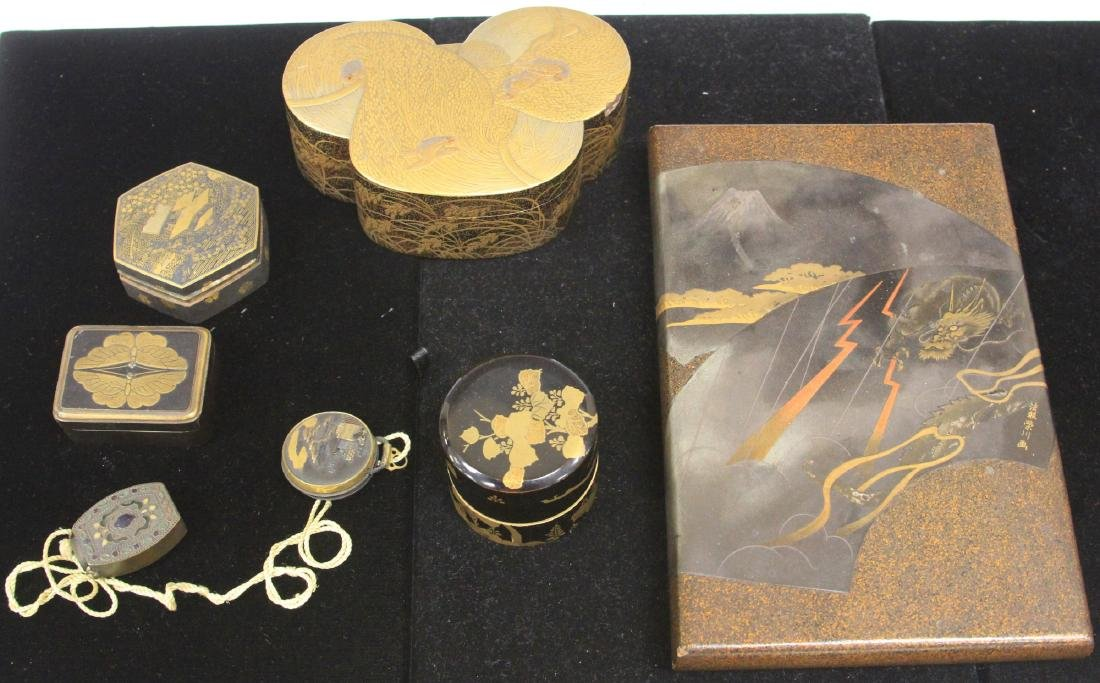 LOT OF (7) 19TH C. JAPANESE BOXES