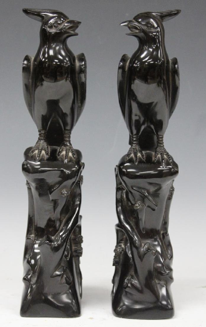 PAIR OF 20TH C. CARVED BIRD SCULPTURES