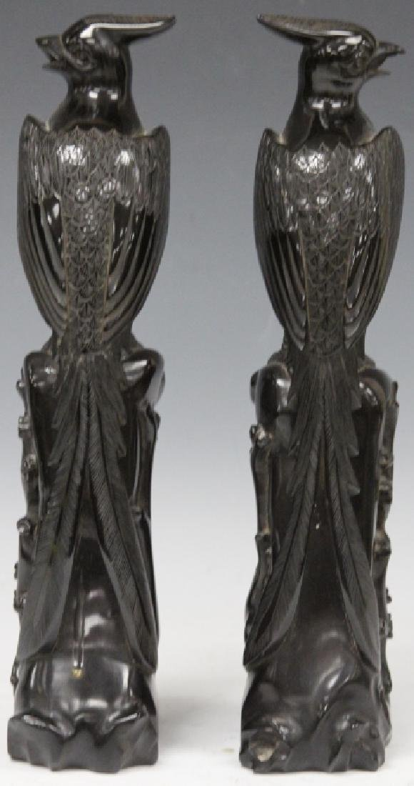 PAIR OF 20TH C. CARVED BIRD SCULPTURES - 3