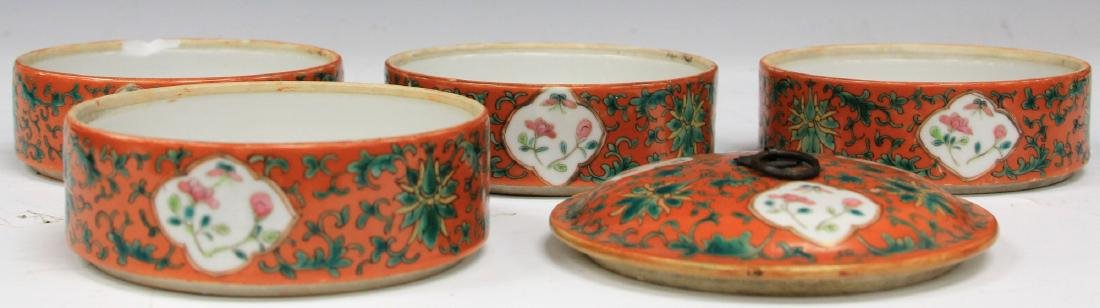SET OF (4) CHINESE PORCELAIN STACKING BOWLS W/ LID - 2