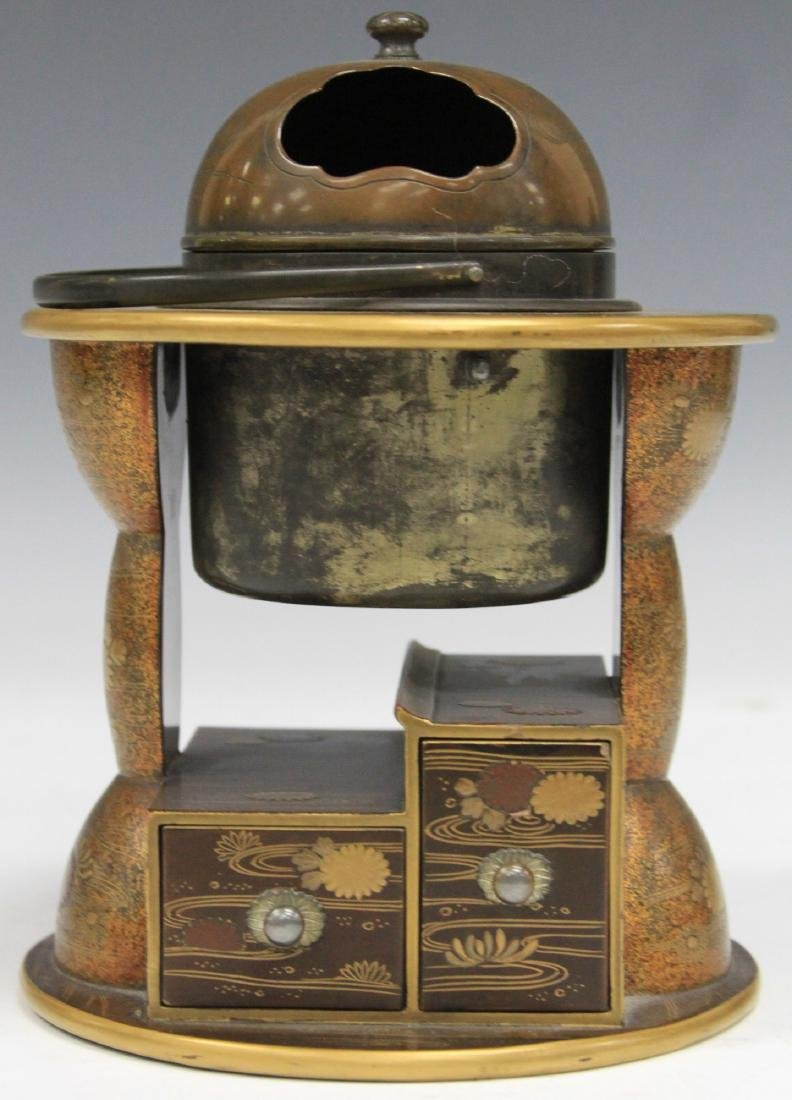 """19TH C. JAPANESE LACQUERED DESK BOX, 6 3/4"""" H"""