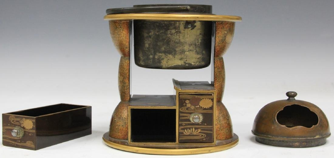 """19TH C. JAPANESE LACQUERED DESK BOX, 6 3/4"""" H - 2"""
