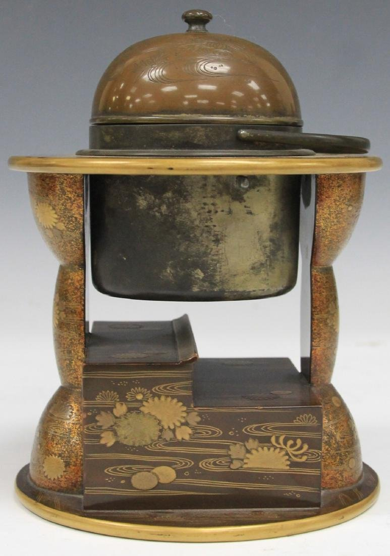 """19TH C. JAPANESE LACQUERED DESK BOX, 6 3/4"""" H - 3"""