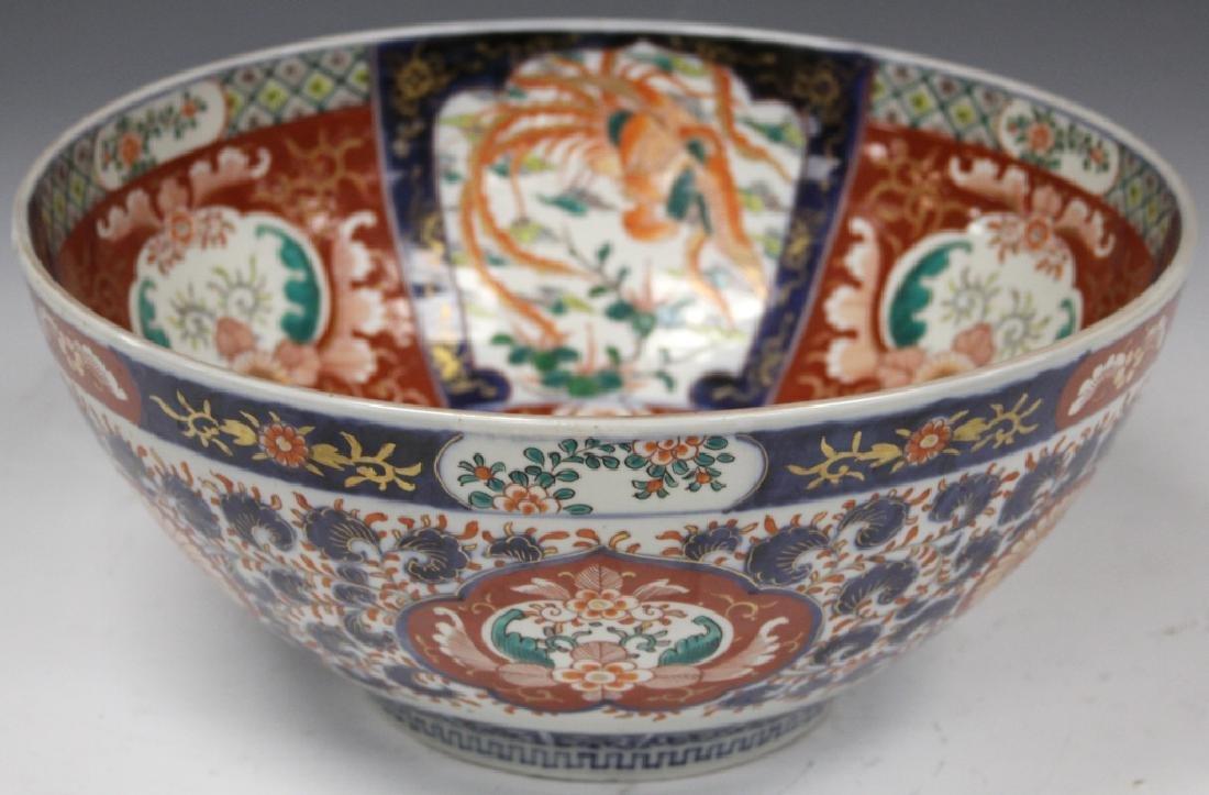 19TH C. JAPANESE PAINTED IMARI CENTER BOWL - 3