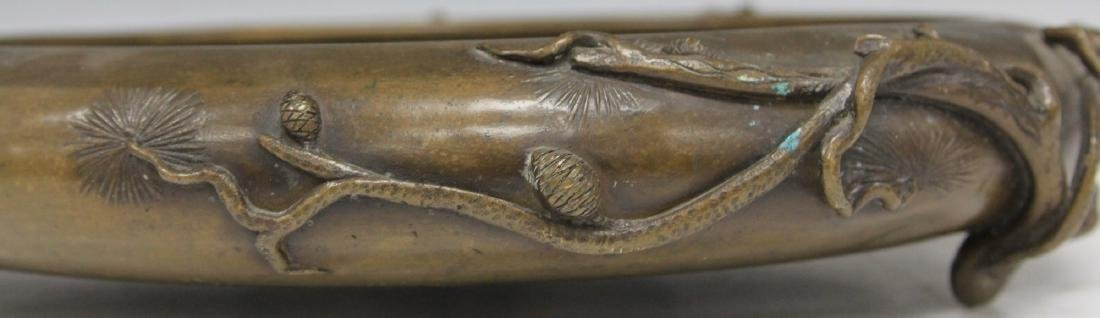"EARLY JAPANESE BRONZE CENSER, 14 1/2"" D - 4"