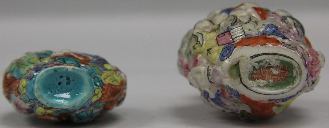 LOT OF (2) CHINESE PORCELAIN SNUFF BOTTLES - 3