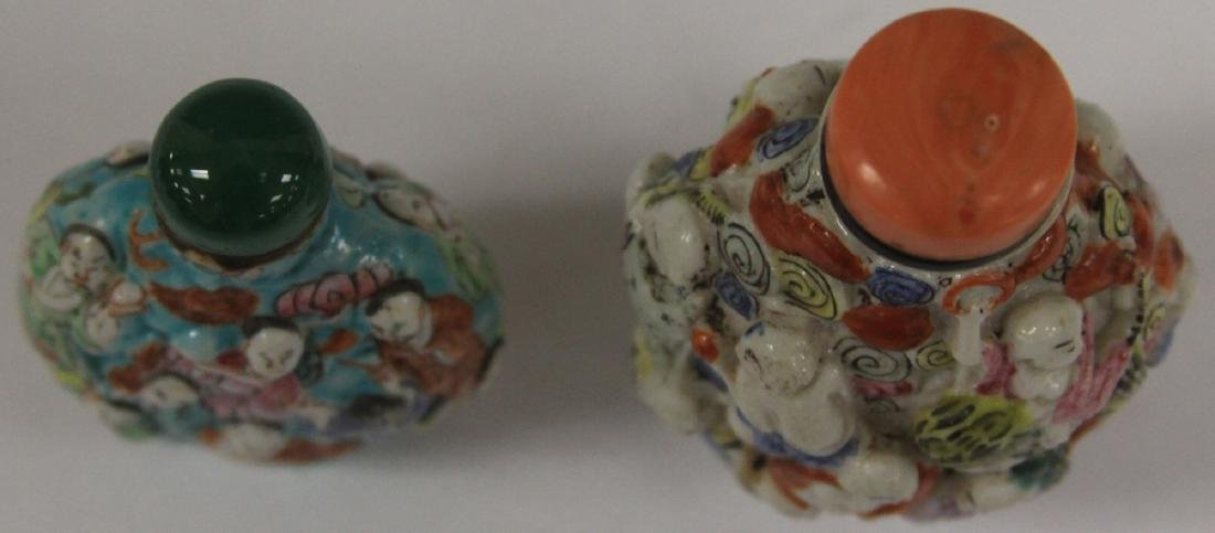 LOT OF (2) CHINESE PORCELAIN SNUFF BOTTLES - 5