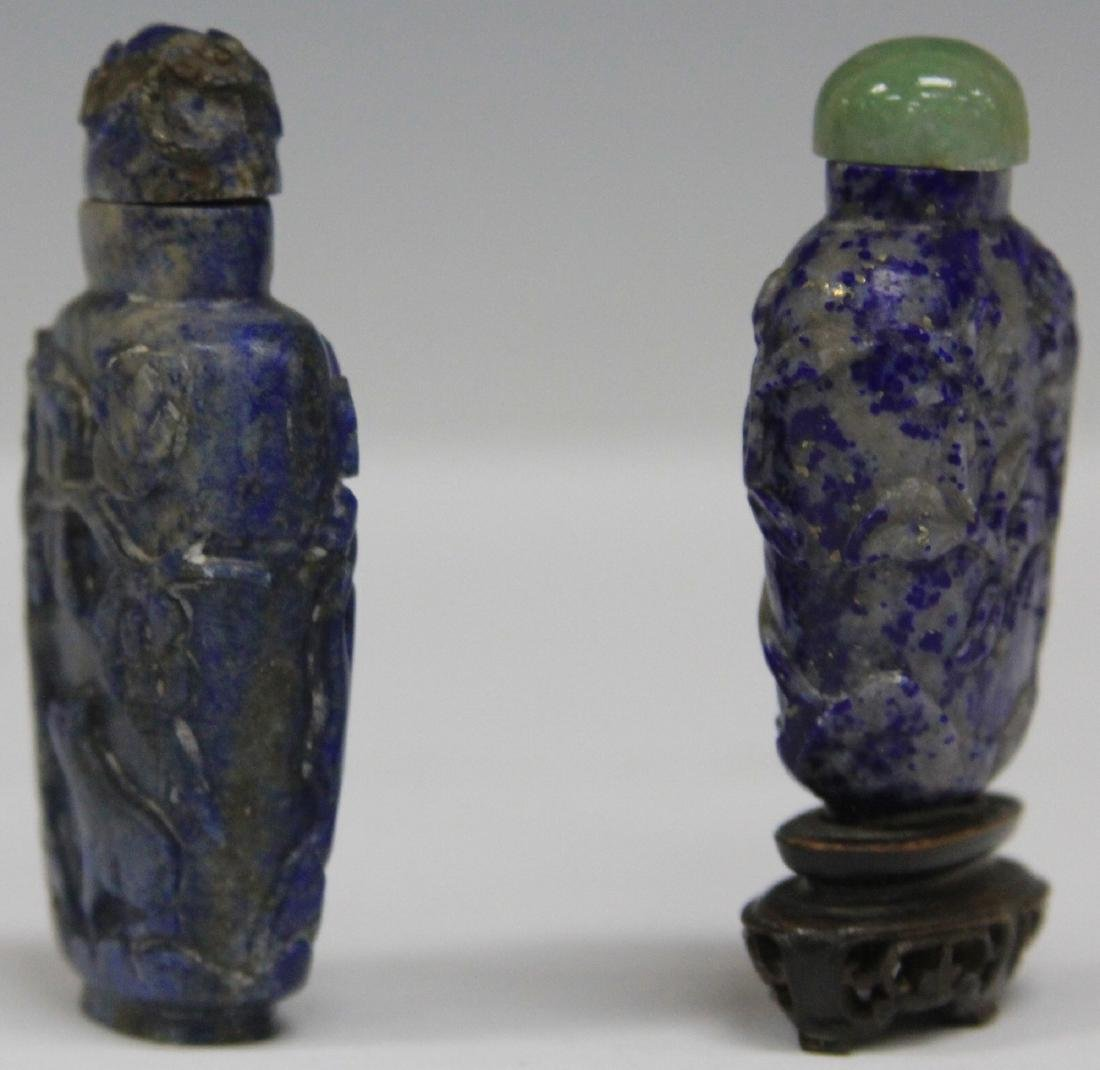 LOT OF (2) CHINESE LAPIS SNUFF BOTTLES - 3