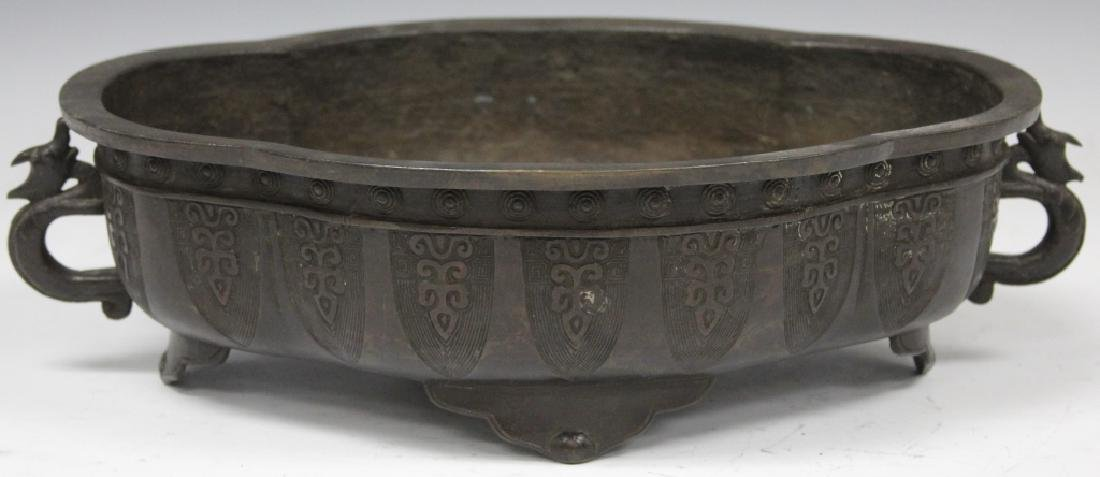 VINTAGE JAPANESE BRONZE FOOTED CENSER